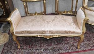 Louis XV Gilt Tabouret Siège Intérieurs de meubles français
