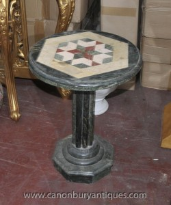Marbre italien toscane Side Table ronde Inlay tables de cocktail