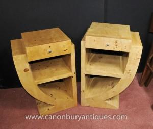 Paire Art Déco tables de chevet Commodes Tables de chevet 1920 Meubles
