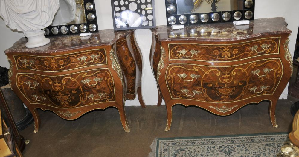 paire bombe commodes louis xv coffres commode meubles fran ais. Black Bedroom Furniture Sets. Home Design Ideas