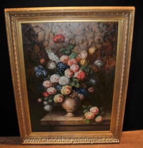Peinture à l'huile florale néerlandaise Vivid Still Art Fleur Vie