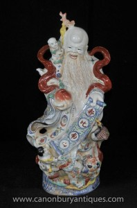 Porcelaine chinoise Qing Wise Man Figurine Céramique statue