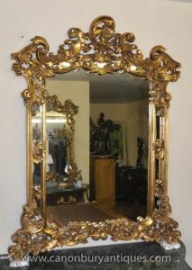 Rococo français Louis XV Gilt Pier Mirror Mantle Miroirs
