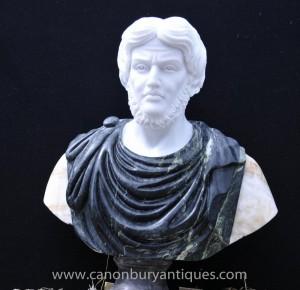Sculpté à la main Buste en marbre italien empereur romain Titus Atoninus Pie