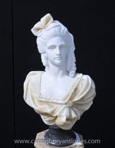 Sculpté à la main Maiden Buste Victorian Art Femme Statue
