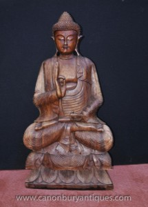 Sculpté tibétain Statue de Bouddha Lotus Pose bouddhisme bouddhiste Art