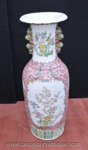 Simples Wucai porcelaine chinoise Urnes Vases Dragons asiatiques Antiquités