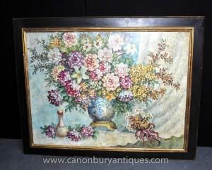 Vaporisateur Art Nouveau Floral Toujours peinture à l'huile vie
