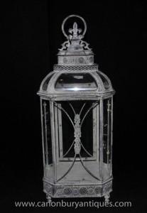 Victorienne anglaise Lantern Boîtier Verre Lumière
