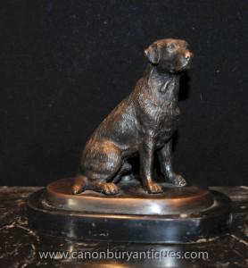 Anglais bronze Labrador Dog Statue Castings