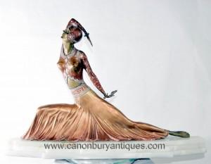 Art Déco Clara Bronze Statue Figurine par Demetre Chiparus