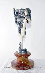 Art Déco Figurine Serpent Dancer Demetre Chiparus