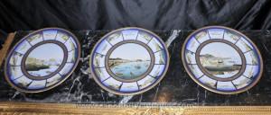 Réglez Plaques 3 Français Limoges assiettes en porcelaine Maritime Scène Seascape