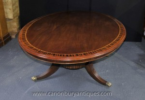 Regency Centre Oval Dining Table Acajou Meubles