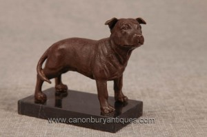 Anglais bronze Pitbull Dog Statue Castings