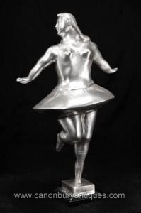 Argent Bronze Danseur de ballet Statue Figurine Botero