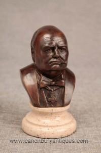 Bronze Buste Charme Bretagne Winston Churchill Premier ministre
