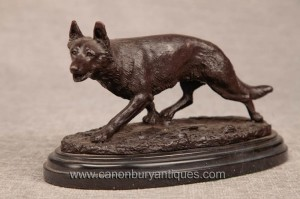 Bronze français casting Fox Statue Cunning Sly Foxes