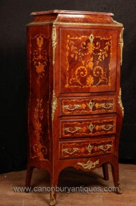 Français Empire Secretaire Chest bureau Marqueterie Inlay Meubles