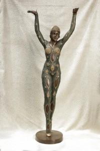 XL Chiparus Art Deco Bronze Figurine Starfish Dancer Statue