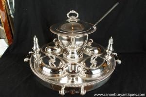 Elkington Sheffield Silver Plate Lazy Susan serveur Urne Centrepiece