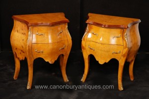 Paire Empire Bombe Commodes Commodes Tables de chevet chevet Commodes