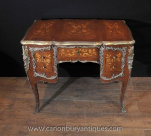Antique Louis XV genou Trou bureau Bureau Table 1,920