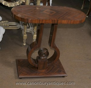 Art Déco Table console Rosewood Salle Tables Mobilier