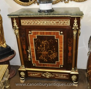Empire français Buffet Cabinet Marqueterie Inlay