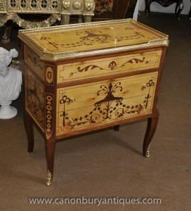 Empire français poitrine tiroirs Cabinet Commode Marqueterie Inlay
