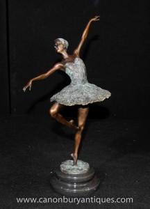 Français Bronze Ballet Statue Figurine de Degas Ballerina