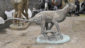Lifesize Bronze Cheetah Statue Chats Animaux