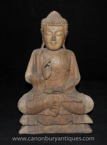 Sculpté à la main Bouddha birman statue bouddhiste Bouddhisme Art