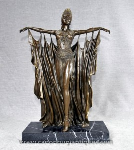 Art Deco Bronze Semiramis Dancer par Chiparus français Figurine