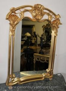 Art Nouveau français Gilt Pier verre miroir Miroirs