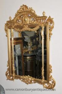 Big français Regence Gilt Pier verre miroir Miroirs