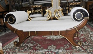 Empire français Tabouret Chaise Longue Seat Day Bed