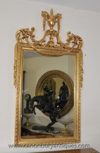 English Regency Pier Adams classique Miroir verre Miroirs