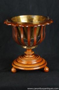 Noyer Regency Seau Planteur Peat Pot Wine Cooler
