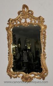 Rococo français Gilt Pier verre miroir Miroirs