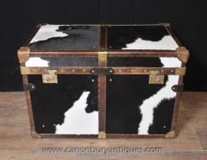 Anglais malle bagages Box Chest Case Café Side tableau imprimé animal