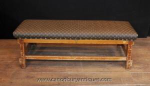Antique Siège Architectural Banc Tabouret avec Louis Vuitton Imprimer