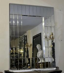Art Déco Verre Pier Mirror Miroirs années 1920 de Mantel