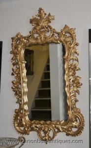 Big Louis XVI français rococo doré Pier Miroir