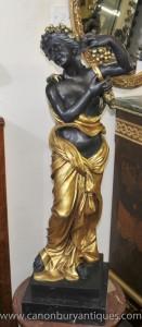 Big classique italienne Bronze Maiden Signé Perdier semi Nu