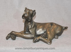 Bronze Great Dane Statue Animaux Chiens Castings