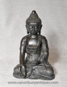 Bronze Nepalease Statue de Bouddha dhyanasana Méditation Lotus Pose bouddhiste
