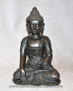 Bronze tibétain Statue de Bouddha méditation bouddhiste art bouddhiste Mudra