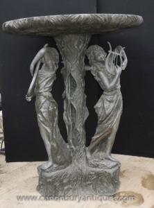 Caractéristique XL français Bronze Maiden Fontaine Water Garden