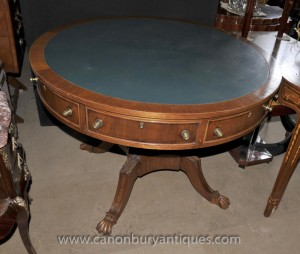 Centre tambour anglaise victorienne Table Tables